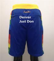 2021 команда мужская сшитая баскетбол короткая просто Дон Спортивные шорты Бедные поп-брюки с карманными спортивными штанами синий белый черный золотой
