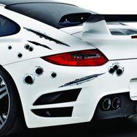 3D réaliste Ballet Hole Sticker de voiture Simulation Scrasser des autocollants étanches à décalcomanie drôles pour automobiles / moto