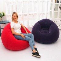2021 Un siège Canapé gonflable Chaise de jardin Meubles de jardin Flocking PVC Salons d'intérieur Camping Voyage Voyage Plage En plein air Canapés de paresseux