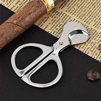 Sigara İçici Aksesuarları Duman Bıçağı 304 Paslanmaz Çelik Puro Kesici Cohiba Bıçak Makas Büyük Sigara Araçları Iyi Noel Hediyesi FWD7625