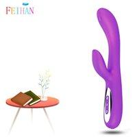 Vibromasseurs Feihan USB Charging Classic Sex Tool Vibromator Dildo Prostate Anal Socket Massager pour Femmes Simulation Penis