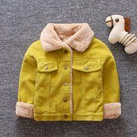 Winter Baby Girls Jacket Boys Coat Children Fur collar Warm Jackets 0-4Y Kids Toddler Xmas Snowsuit Outerwear Clothing