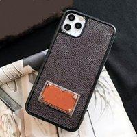 Voor iPhone 13 13PRO 12 12PRO 11 PRO MAX XS XR XSMAX Telefoon Gevallen Topkwaliteit Deluxe Mode Lederen Print Designer Tags Cellphone Cover