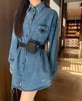 Chaqueta de mujer Denim Estilo largo otoño Spring Blazers Waterbreaker para lady Outwears Fashion Coat con cremalleras y aplique Cintura Ajuste Chaquetas Tamaño S-L