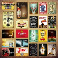 Falstaff Beer Metal Signs Whiskey Plaque Wine Vintage Wall Sticker For Bar Pub Club Decor Man Cave Decorative Plates YI-069
