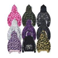 Designer Winter Mężczyźni Damska Kurtka Camo Shark Usta Bluza Bluza Głowy Kurtki Bluzy Bluzy Pocenia Drukowane Pulower Z Kapturem Ciepłe Płaszcz Płaszcz Kobiety