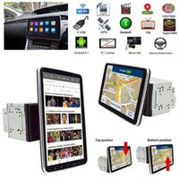 Car GPS & Accessories Double 2DIN Rotatable 10.1'' Android 9.1 Touch Screen Stereo Radio Navigation Wifi MP5 Bluetooth Multimedia Player