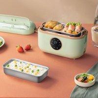 طاولات الأرز 1.2L صندوق الغداء الكهربائي موعد مينا طباخ وعاء مصغرة متعدد الألوان السيراميك بطانة خالية من المياه مع عرض رقمي 220 فولت