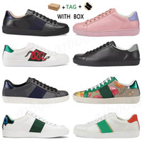2021 Hommes Femmes Italie ACE Designer Chaussures Luxe Quality Snake Noir Blanc Cuir Blanc Bee Shoes Vintage Star Shepe Snake Sneakers Entraîneurs