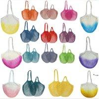 Портативные ватинские чистые покупки Suermarket овощные и фруктовые сумки из чистого хлопчатобумажной тканой полый полиэстер сумка HWD9183