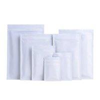 1000Pcs 11 Size Matte White Heat Sealable Plastic Flat Mouth Zipper lock Packaging Bag Smell Proof Aluminum Foil Mylar Bags