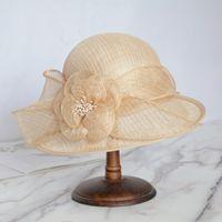 Asymmetric Brim Fascinators Kentucky Derby Cloche Hat Royal Wedding Hats For Women Elegant Church Dresses Lady Tea Party Fedora