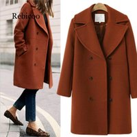 Women's Wool & Blends 2021 Autumn And Winter Europe The United States Large Size Woolen Coat Female Long Section Windbreaker