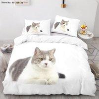 Bedding Sets Lovely Pet Cartoon Kids Baby Quilt Cover 2 3 Piece Cat Duvet Queen King Double Single Bed No Sheet