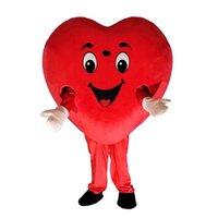 Halloween Red Heart Mascot Costume Cartoon Love Anime Tema Carattere Christmas Carnival Party Costumes Costumi adulti Abbigliamento