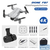 F87 4K HD Double Camera FPV Mini Dronetoy، Track Flight، وضع الرأس، LED ضوء الارتفاع، إيماءات الصورة كوادكوبتر، عيد الميلاد كيد هدية، 3-2