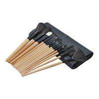 15pcs Inventory clean makeup brush tools set with luxury portable PU bag kabuki cosmetic tool kit soft synthetic hair for eyebrow concealer