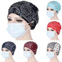 Beanies Paisley Printin Muslim Women Solid Cotton Turban Bonnet Hijab Caps Inner Hijabs Femme Musulman Arab Wrap Turbantes Head Scarf