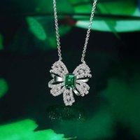 HBP Fashion 2021 Новый S925 Стерлингового серебра Стерлингового серебра Крепление Роскошный Зеленый ремень