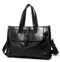 Men's luxurys Briefcase Leather Laptop Bag For Men Porte Document Business Messenger Handbag