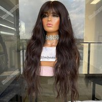 Lace Wigs Super Wave 360 Frontal Preplucked Remy Human Hair For Women Glueless 180Density Front Wig With Bangs Fringe