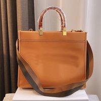 Tote Çanta Alışveriş Çantaları Çanta Moda Düz Mektubu Yüksek Kapasiteli Ayrılabilir Omuz Askısı Amber Çift Kolu Orijinal Deri