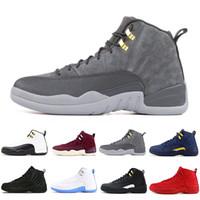 12 12s Mens Basketballschuhe 2021 Michigan Wntr Gym Red NYC OVO Wool XII Designer Schuhe Sport Sneakers Trainer Größe 40-46