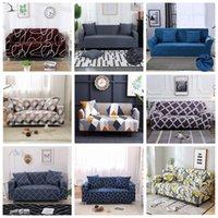 Cubiertas de sofá de estilo múltiple Establecer esquinas elásticas para la sala de estar cubierta de sofá Decoración para el hogar Ensamblate Slipcover FHL489-WLL