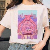 2021 Nouvelle Tshirt Aesthétic Chat Anime Femmes Mignonne T-shirt Féminin Kawaii Tees Mode Ullzang Sailor Moon 90s Drôle T shirt Harajuku Clothe YA19