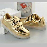 JawayKids Velcro Led shoes usb charging Sneakers Children hook loop Fashion luminous shoes girls boy glowing flash shoes 210309