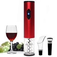 Ouvre-vin électrique, ouvre-bouchon de bouteille automatique avec coupe-feue pour l'amant 4-en-1 Cadeau 210903