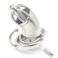 CBT Toy CB600S Cage di castità in acciaio inox con catetere audio uretrale anello anti-off anello castity dispositivi pene serratura per uomo sesso GG225