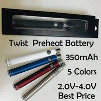 Twist Batterie 650mAh Bottom Twist Manuelle Evodvorrichtung VV 650mAh 510 Thread Batterie Black Kit USB-Ladegerät für CE3 dicke Ölpatronen DHL