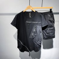 Men's Tracksuits T-shirt Set 2021 Short Sleeve Trend Handsome Top, Student's Summer Tracksuit Men Two Piece