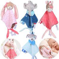 Baby Plush Stuffed Cartoon Bear Bunny Soothe Appease Boneca para Recém-nascido Macio Suave Toalha de Toy Dormindo Fábrica de Presente Fábrica Melhor 10 Pcs Atacado