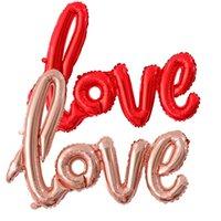 Ligure Love Foil Foill Balloon Party Supplies Romantic San Valentino Amore Lettera Balls Globos Foto Puntelli Forniture 200pcs