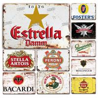 2021 빈티지 맥주 브랜드 포스터 금속 주석 기호 유럽 레트로 홈 바 장식 철 그림 맞춤형 펍 클럽 산업 장식 20x30