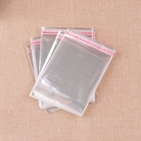 600pcs lot 8x14cm Clear Adhesive Seal Plastic Opp Gift Bags For Gifts Jewelry Packaging