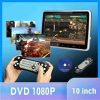 """10.1"""" 1024*600 Car Headrest with Monitor DVD Video Player Portable Car TV Monitor USB SD HDMI IR FM TFT LCD Touch Button Games"""