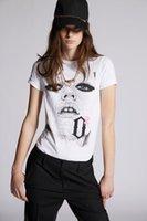 DSQ PHANTOM TURTLE SS Womens Designer T shirt Italian fashion Tshirts Summer DSQ T-shirt Female High Quality 100% Cotton Tops 38157