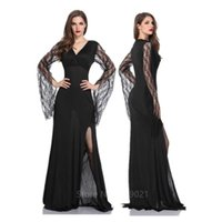 Vampire Cosplay Costume Halloween Costumes for Women Witch Halloween Clothes Dresses Masquerade Evening Dress Elegant Female H0910