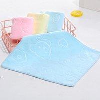 25 * 25 cm Household Microfiber Absorbent Myć Twarz Ręcznik Infant Kindergarten Zagęścić wytłaczane kreskówki niedźwiedź Drukowane ręczniki dziecięce dwd9