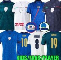 2021 Itália Ultra taraweave futebol jerseys insigne 21 22 Imobil jorginho bonucci vertatti chiesa locatelli kit kit kit maglie fãs jogador versão goleiro tops