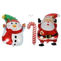 New Cute Cartoon Christmas Snowman Santa Claus Aluminum Foil Balloons Christmas Decorations OWB10505