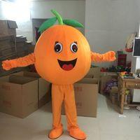 Halloween härlig orange maskot kostym topp kvalitet tecknad frukt anime tema tecken vuxen storlek jul karneval födelsedagsfest fancy klänning
