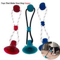 Haustier Katzen Hunde Interaktive Saugnapf Push TPR Ball Spielzeug Elastische Seile Haustier Zahnreinigung Kauen Spielen IQ behandeln Welpenspielwaren