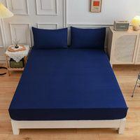 Lençóis Conjuntos Moda Moda Azul Azul Azul Cama de Cama Cama Coleção Rodada Elastic 90 * 200 * 27cm 180 * 200 * 27