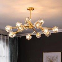 Chandeliers Nordic Crystal Chandelier Restaurant For Living Room Industrial Deco Indoor Lighting Fixtures Modern Led