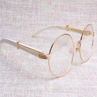 Fabrik Runde Hochwertige direkte Qualität 57-22-135 mm Waren Beliebte Büffel 7550178 Größe: weiße Brille Brillenbrillen Horn Kcmnt
