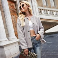 Women's Jackets Autumn Coat Long Sleeve Single Breasted Fashion Loose Warm Lamb Wool